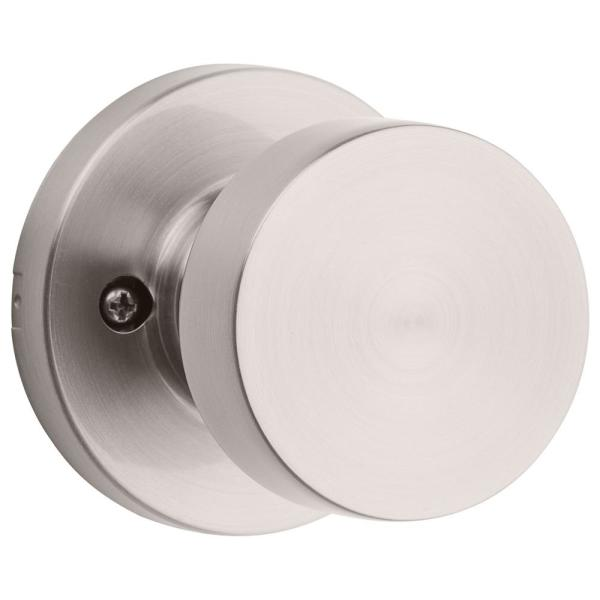 Pismo Round Satin Nickel Dummy Door Knob Featuring Microban Antimicrobial Technology