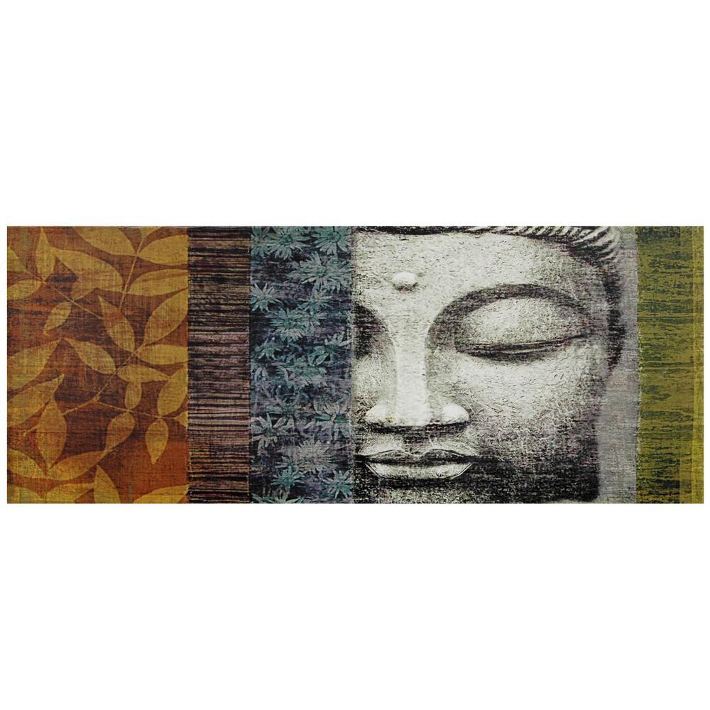 "Oriental Furniture 16 in. x 39 in. ""Buddha Statue"" Canvas Wall Art"