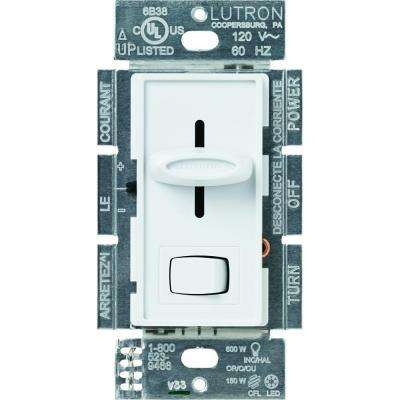 Skylark C.L Dimmer Switch for Dimmable LED, Halogen and Incandescent Bulbs, Single-Pole or 3-Way, White
