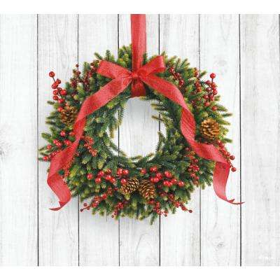 7 ft. x 8 ft. Christmas Wreath-Christmas Garage Door Decor Mural for Single Car Garage