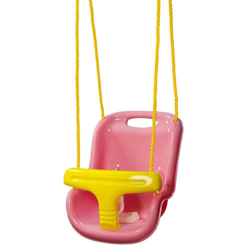 Gorilla Playsets Pink Infant Swing With High Back 04 0032 Pk The