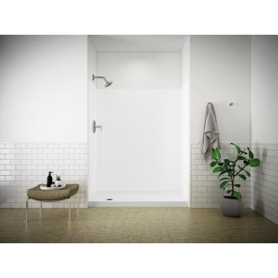 Choreograph 32 in. x 60 in. x 72 in. Shower Kit with Left Hand Drain in White