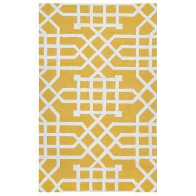 Azzura Hill Yellow Geometric 9 ft. x 12 ft. Indoor/Outdoor Area Rug