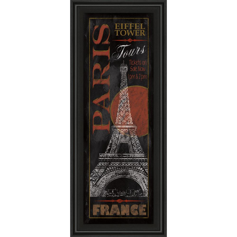 18 in. x 42 in. ''Paris Tours'' by Conrad Knutsen Framed