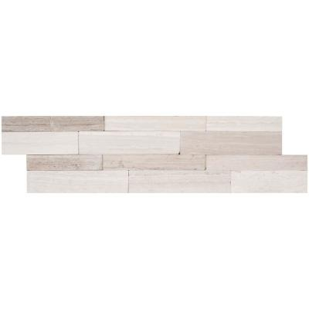 Winter Oak Veneer Peel and Stick 6 in. x 22 in. Honed Slate Wall Tile (13.80 sq. ft. / case)