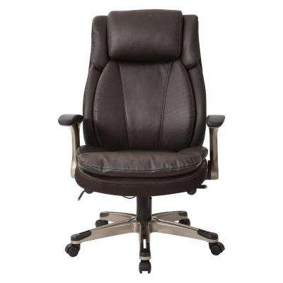 Executive Leather Flip Arm Chair with Cable Control