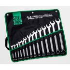 3/8 in. - 1-1/4 in.12-Point SAE Full Polish Combination Wrench Set (14-Piece)