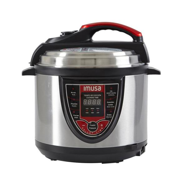 IMUSA 5 Qt. Digital Pressure Cooker in Red GAU-80106