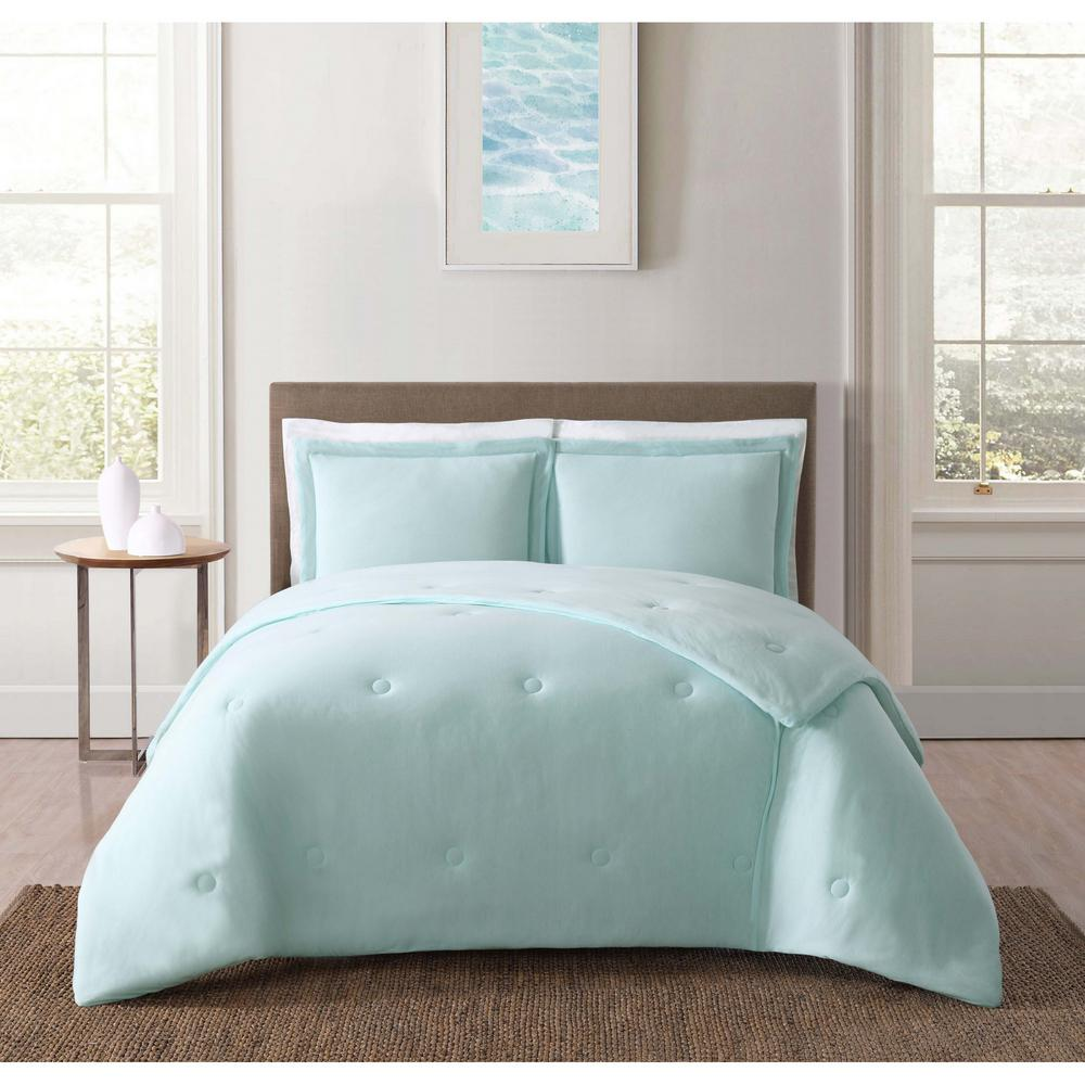 truly soft everyday solid jersey aqua twin extra long comforter set cs2400aqtx 1500 the home depot. Black Bedroom Furniture Sets. Home Design Ideas