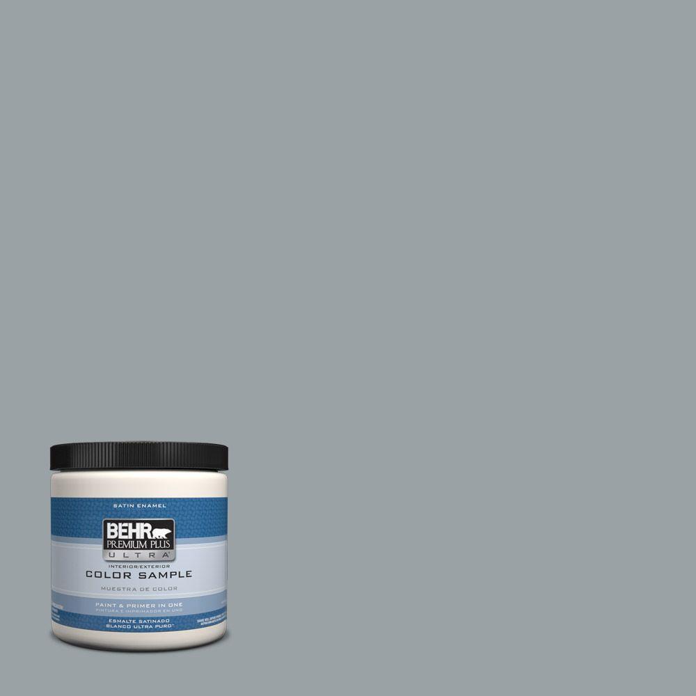 Behr Premium Plus Ultra 8 Oz Hdc Nt 20 Cotton Grey Interior Exterior Satin Enamel Paint Sample