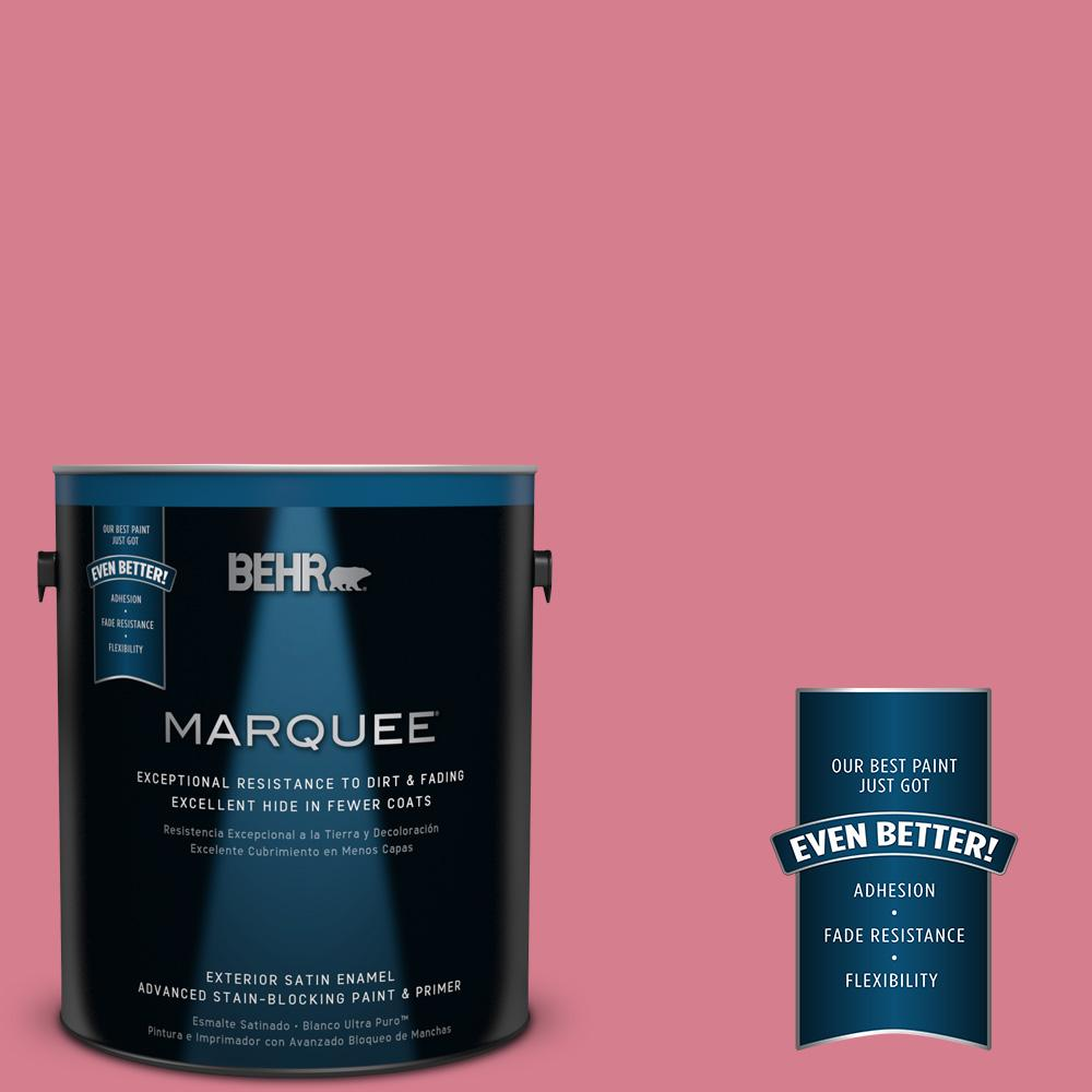 1-gal. #P140-4 I Pink I Can Satin Enamel Exterior Paint