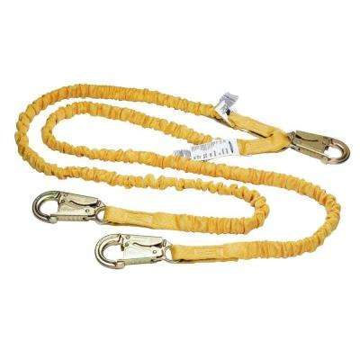 Upgear 6 ft. SoftCoil Twin Leg Lanyard (Energy Absorbing Inner Core, Snap Hook)