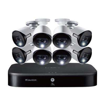 8-Channel 4K DVR Surveillance System with 2TB HDD and 4 x 4K Deterrence Cameras