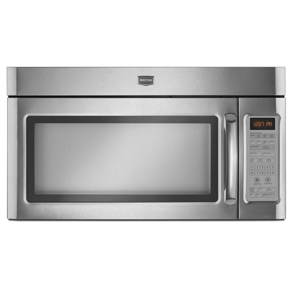 Maytag 1.8 cu. ft. Over the Range Convection Microwave in Stainless Steel with Sensor Cooking-DISCONTINUED