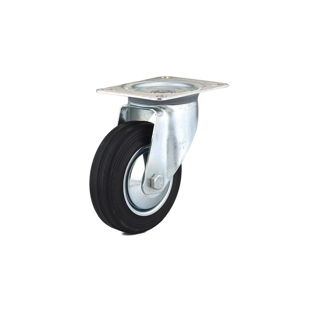 3-15/16 in. black Swivel Without Brake plate Caster, 154.4 lb. Load