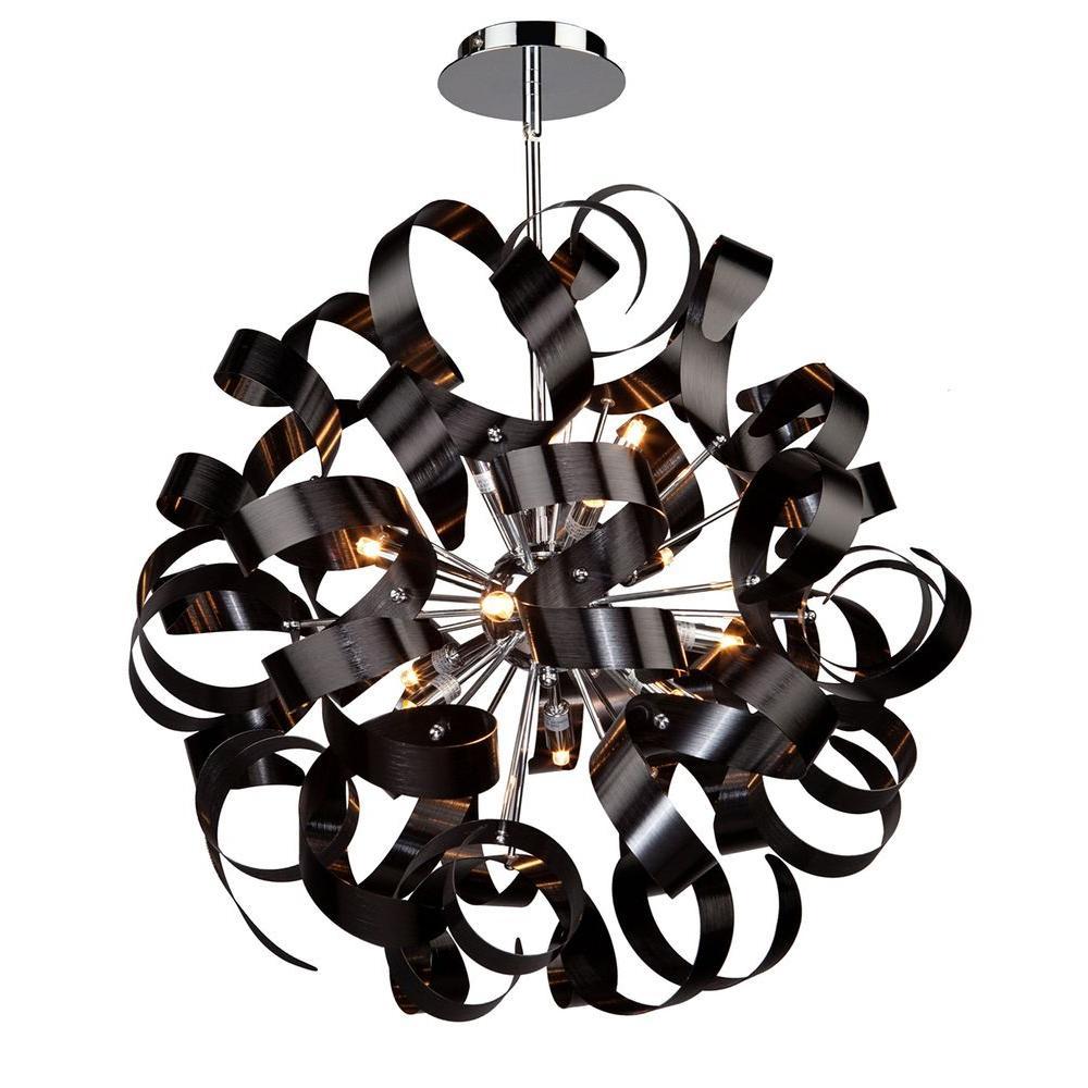 ARTCRAFT 12-Light Metallic Black Pendant
