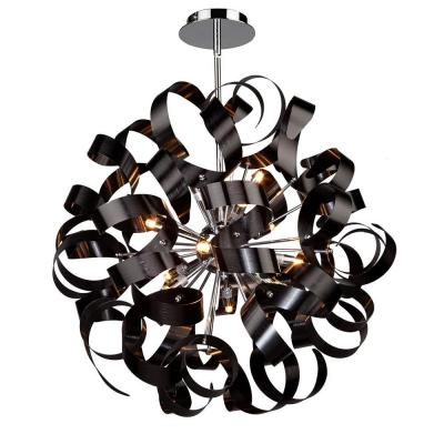 12-Light Metallic Black Pendant