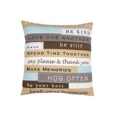 Our Family Rules Pillow