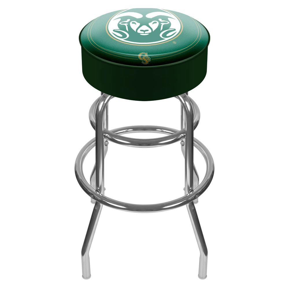 Colorado State University 31 in. Chrome Padded Swivel Bar Stool