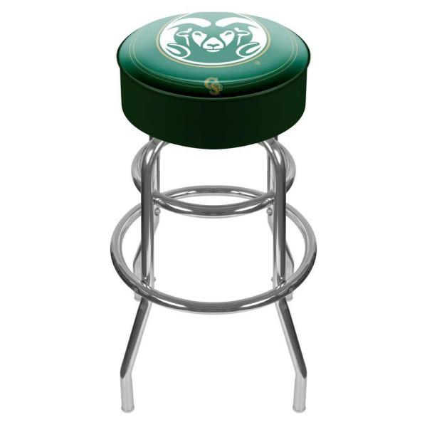 Trademark Colorado State University 31 in. Chrome Padded Swivel Bar Stool