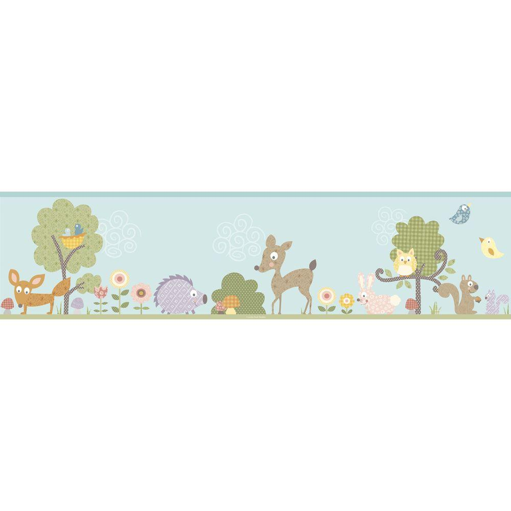 York Wallcoverings Woodland Animals Peel and Stick Wallpaper Border