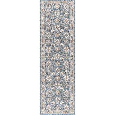 Fairview Navy 2 ft. x 11 ft. Runner Rug