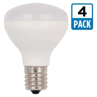 25W Equivalent Soft White R14 Flood Dimmable LED Light Bulb (4-Pack)