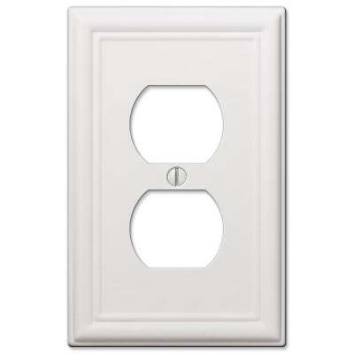 Ascher Steel 1-Duplex Wall Plate, White