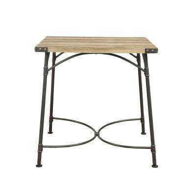 Itzel Sandy Gray and Antique Oak Counter Height Table