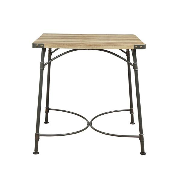 ACME Furniture Itzel Sandy Gray and Antique Oak Counter Height Table