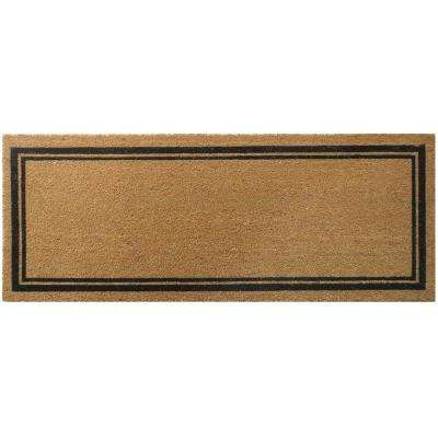 With Border 47 in. x 18 in. Slip Resistant Coir Door Mat