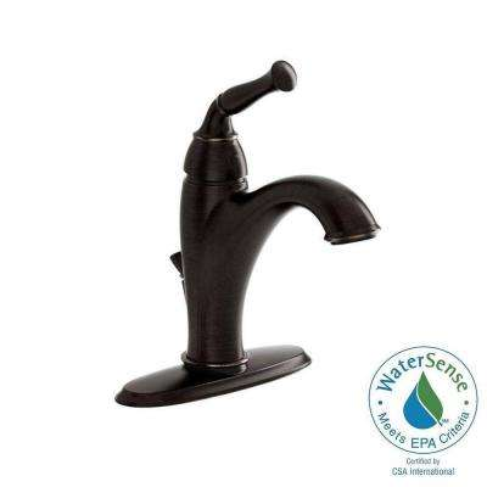 Espana Single Hole Single-Handle Mid-Arc Bathroom Faucet in Estate Bronze