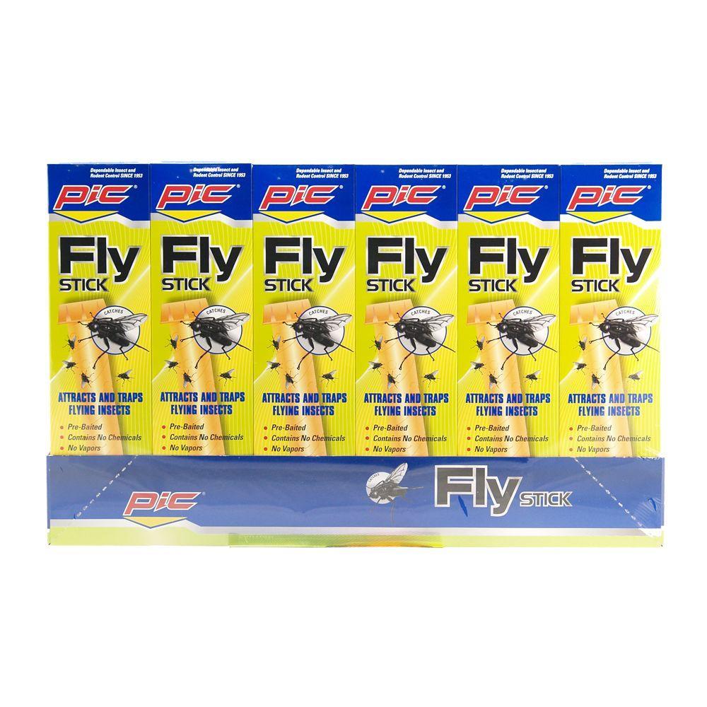 PIC Jumbo Fly Sticks (6-Pack)