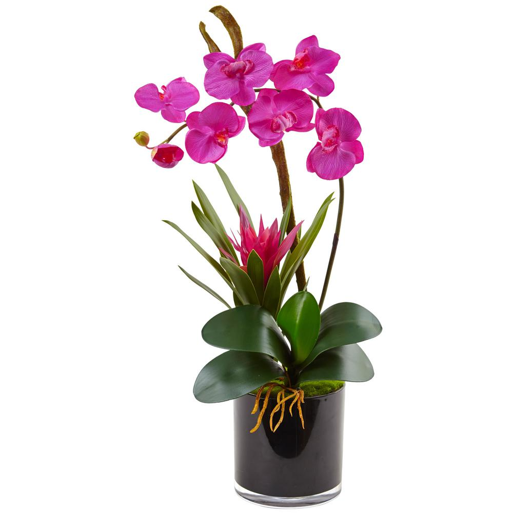 Nearly Natural Orchid And Bromeliad Silk Arrangement 1478 Gr The