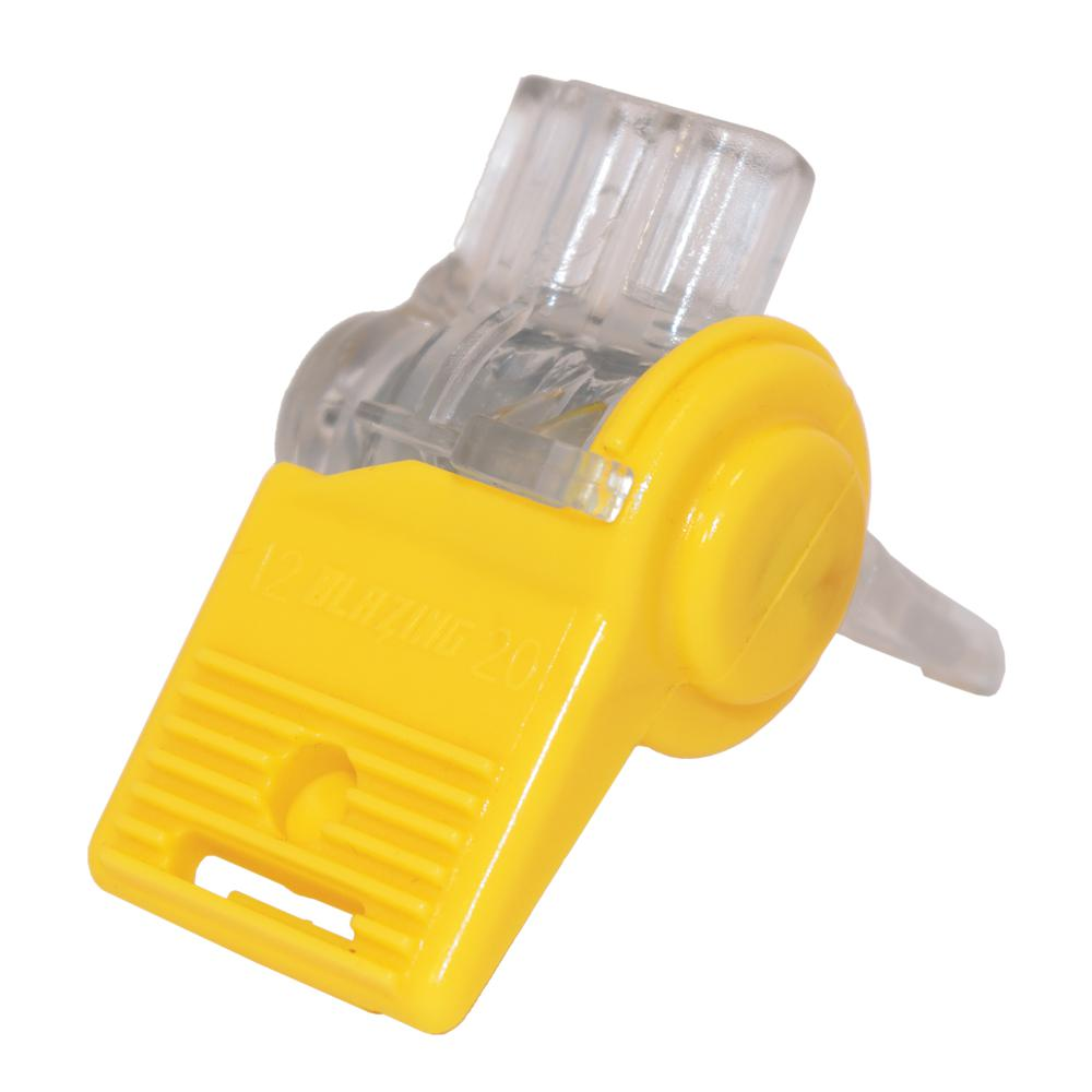 Clear and Yellow Waterproof Wire Connector (20 Pack)-BVS2 - The Home ...