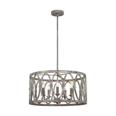 Patrice 5-Light Deep Abyss Chandelier with Open Oval Cage Shade