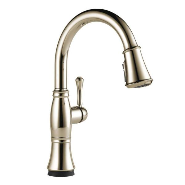 Cassidy Touch Single-Handle Pull-Down Sprayer Kitchen Faucet in Polished Nickel