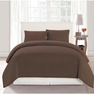 Aiden Full/Queen 3 Piece Duvet Set In Chocolate