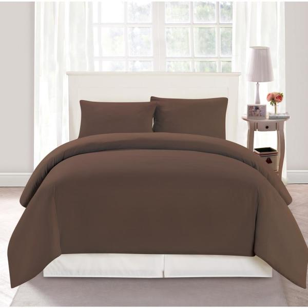 Duck River Aiden Full/Queen 3 Piece Duvet Set In Chocolate AIDEN