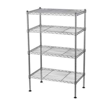 32 in. H x 20 in. W x 12 in. D 4-Shelf Light Duty Chrome Wire Shelving Unit