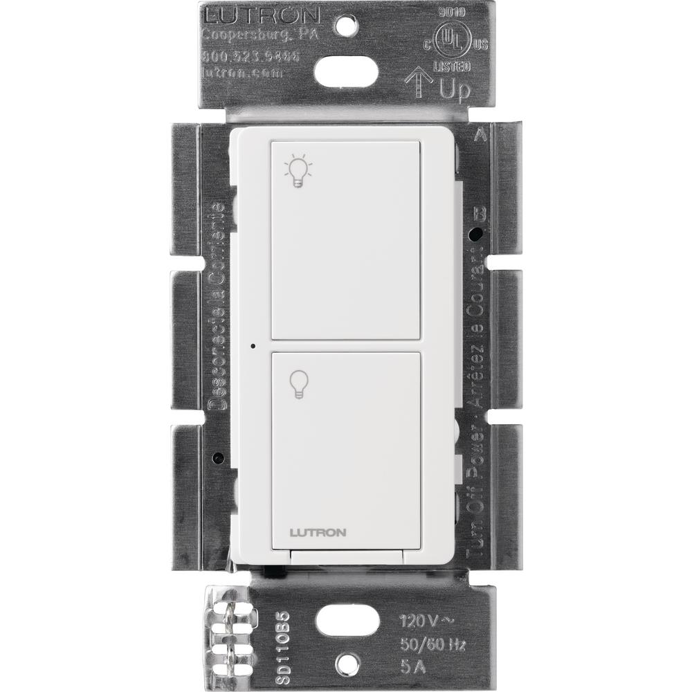 Lutron Caseta Wireless Smart Lighting Switch for All Bulb Types or Fans, White