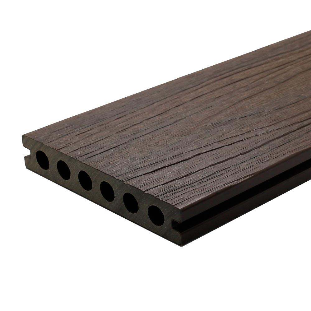 NewTechWood UltraShield Naturale Voyager Series 1 in. x 6 in. x 16 ft. Spanish Walnut Hollow Composite Decking Board (10-Pack)