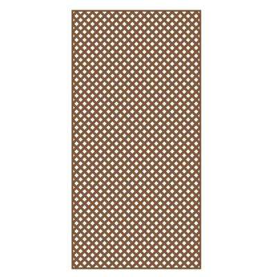 0.2 in. x 48 in. x 8 ft. Redwood Vinyl Privacy Diamond Lattice