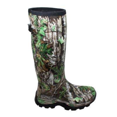 Men's Size 8 Camo Green Rubber 17 in. Real Tree Xtra Hunting Boots