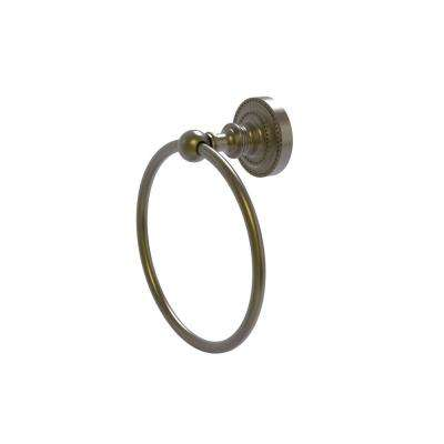 Dottingham Collection Towel Ring in Antique Brass