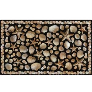Apache Mills Seaside 18 inch x 30 inch Recycled Rubber Door Mat by Apache Mills