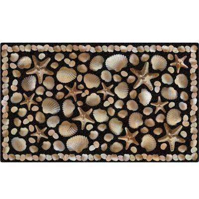 Seaside 18 in. x 30 in. Recycled Rubber Door Mat