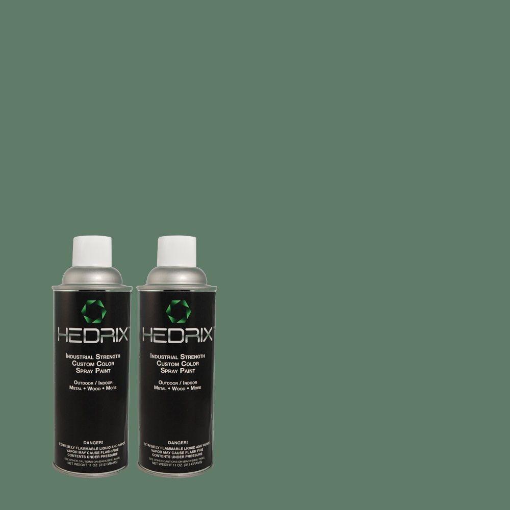 Hedrix 11 oz. Match of 8615 Nile Low Lustre Custom Spray Paint (2-Pack)