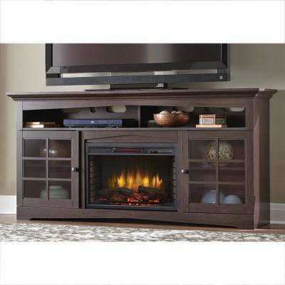 Avondale Grove 70 in. TV Stand Infrared Electric Fireplace in Espresso