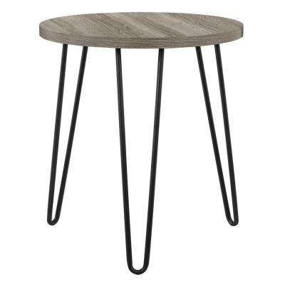 Montrose Weathered Oak Retro Round End Table